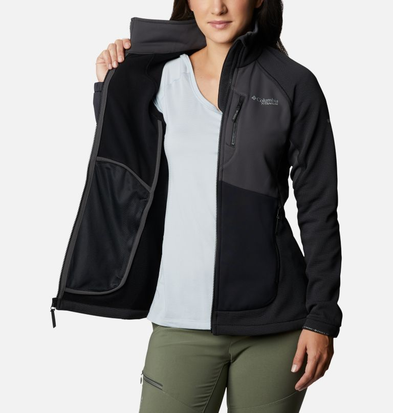 W Powder Chute™ Fleece Jacket | 010 | XS Women's Powder Chute Fleece Jacket, Black, Shark, a3