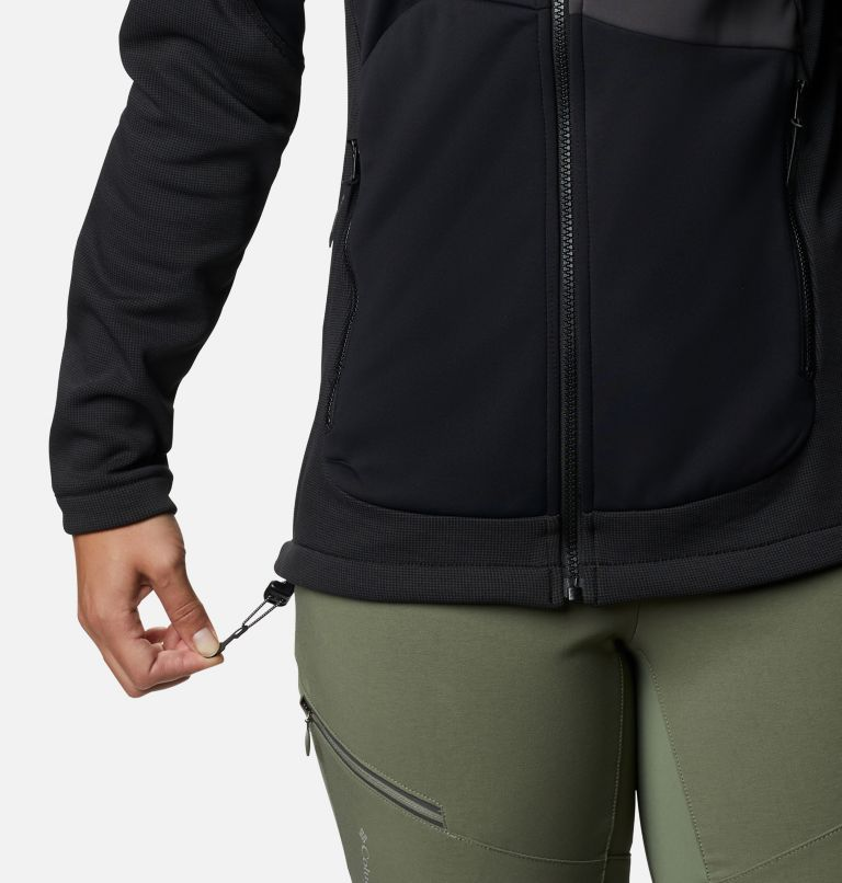 W Powder Chute™ Fleece Jacket | 010 | XS Women's Powder Chute Fleece Jacket, Black, Shark, a5