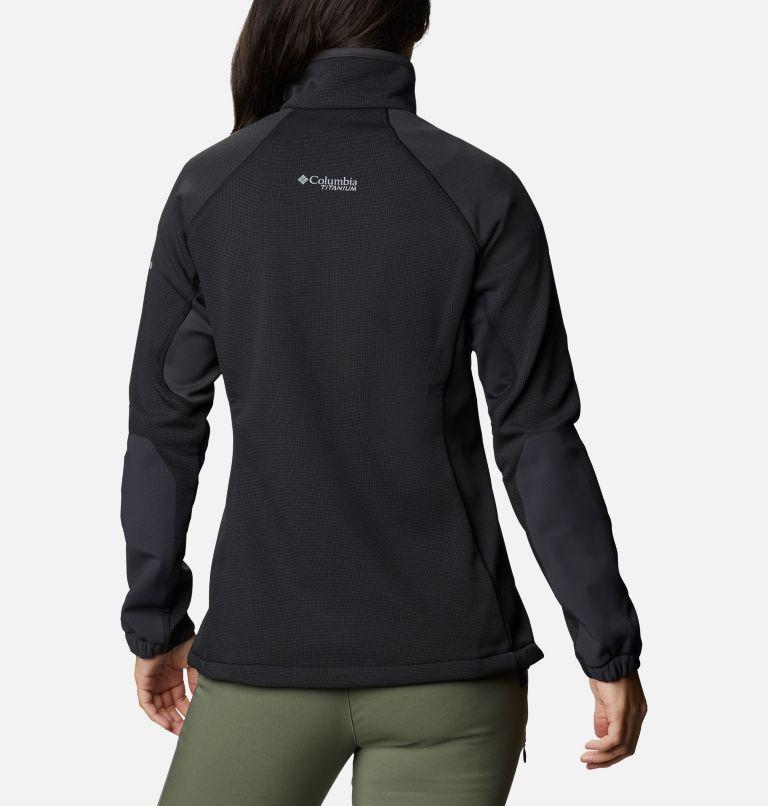 W Powder Chute™ Fleece Jacket | 010 | XS Women's Powder Chute Fleece Jacket, Black, Shark, back