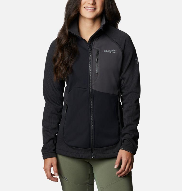 W Powder Chute™ Fleece Jacket | 010 | XS Women's Powder Chute Fleece Jacket, Black, Shark, front