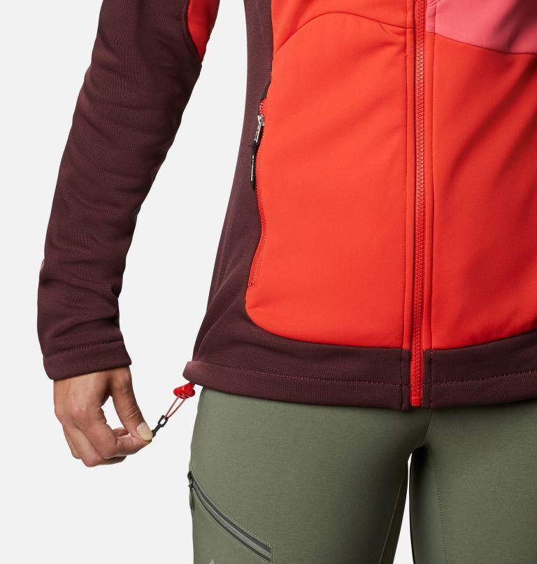 W Powder Chute™ Fleece Jacket | 671 | XS Women's Powder Chute Fleece Jacket, Malbec, Bright Geranium, Bold Orange, a4