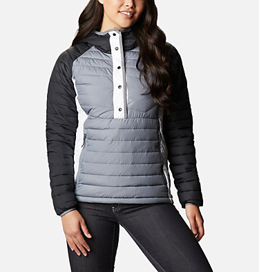 Women's Powder Lite™ Insulated Anorak Powder Lite™ Insulated Anorak | 671 | M, Grey Ash, Black, White, front