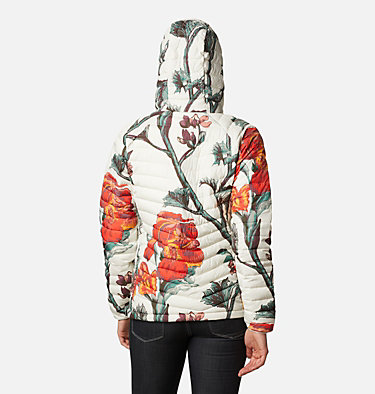 Powder Lite isolierter Anorak für Frauen Powder Lite™ Insulated Anorak | 466 | S, Chalk Botanica Print, back