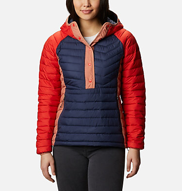Giacca a vento imbottita Powder Lite da donna Powder Lite™ Insulated Anorak | 466 | S, Nocturnal, Bold Orange, Nova Pink, front
