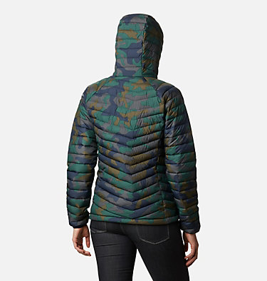 Powder Lite isolierter Anorak für Frauen Powder Lite™ Insulated Anorak | 466 | S, Dark Nocturnal Traditional Camo Print, back
