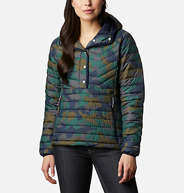 Giacca a vento imbottita Powder Lite da donna Powder Lite™ Insulated Anorak | 466 | S, Dark Nocturnal Traditional Camo Print, front