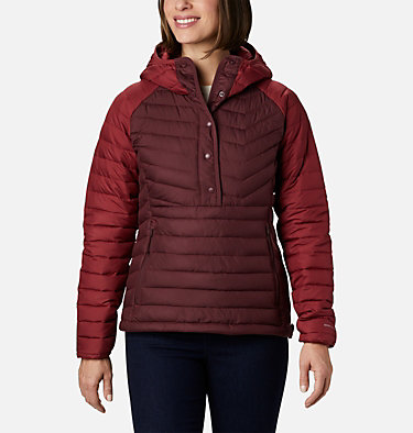 Women's Powder Lite™ Insulated Anorak Powder Lite™ Insulated Anorak | 671 | M, Malbec, Marsala Red, front