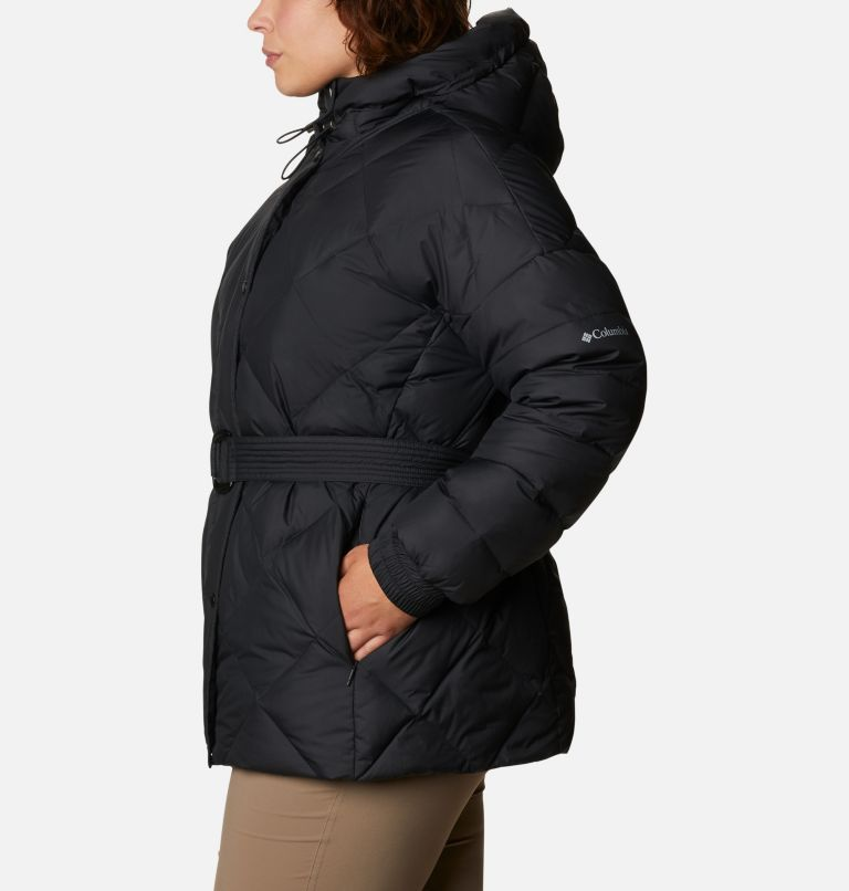 Women's Icy Heights™ Belted Down Jacket - Plus Size Women's Icy Heights™ Belted Down Jacket - Plus Size, a1
