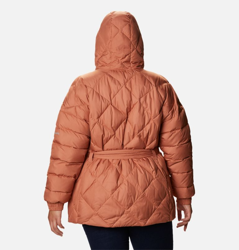 Women's Icy Heights™ Belted Down Jacket - Plus Size Women's Icy Heights™ Belted Down Jacket - Plus Size, back