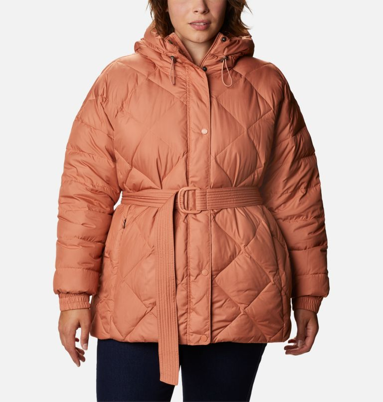 Women's Icy Heights™ Belted Down Jacket - Plus Size Women's Icy Heights™ Belted Down Jacket - Plus Size, front