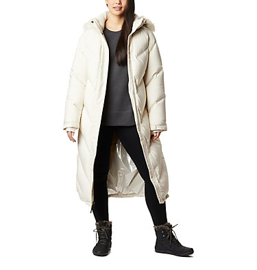 Women's Snowy Notch™ Long Down Jacket Snowy Notch™ Long Down Jacket | 191 | S, Chalk, Chalk Fur, front