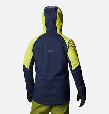 Men's Peak Pursuit™ Shell Peak Pursuit™Shell | 010 | XL, Collegiate Navy, Bright Chartreuse, back