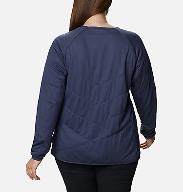 Women's Parkdale Point™ Insulated Crew Shirt - Plus Size Parkdale Point™ Insulated Crew | 466 | 1X, Nocturnal, back