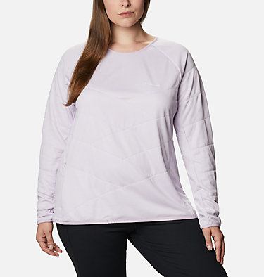 Women's Parkdale Point™ Insulated Crew Shirt - Plus Size Parkdale Point™ Insulated Crew | 466 | 1X, Pale Lilac, front