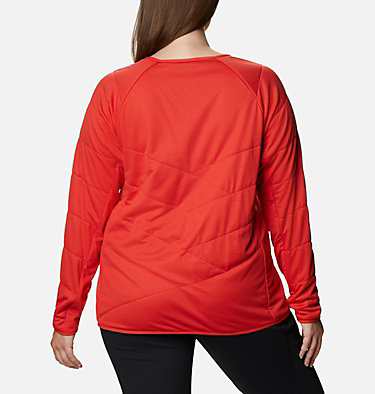 Women's Parkdale Point™ Insulated Crew Shirt - Plus Size Parkdale Point™ Insulated Crew | 466 | 1X, Bold Orange, back