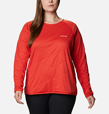 Women's Parkdale Point™ Insulated Crew Shirt - Plus Size Parkdale Point™ Insulated Crew | 466 | 1X, Bold Orange, front