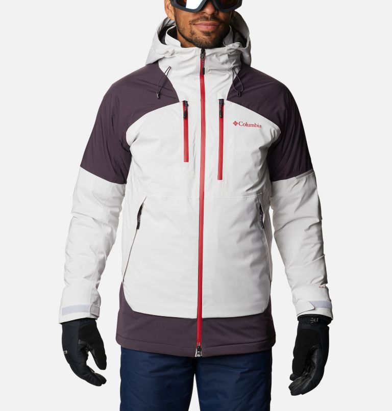 Wild Card™ Jacket | 043 | L Men's Wild Card Ski Jacket, Nimbus Grey, Dark Purple, front