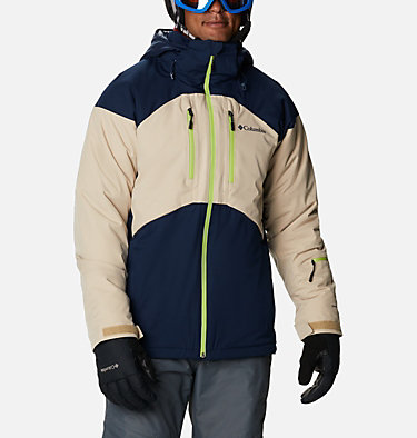 Men's Peak Divide™ Ski Jacket Peak Divide™ Jacket | 464 | S, Collegiate Navy, Ancient Fossil, front