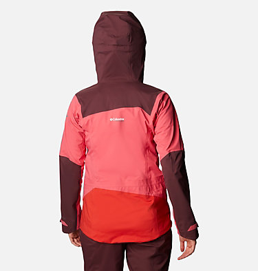 Women's Peak Pursuit 3L Shell Jacket Peak Pursuit™ 3L Shell | 673 | L, Bright Geranium, Malbec, Bold Orange, back