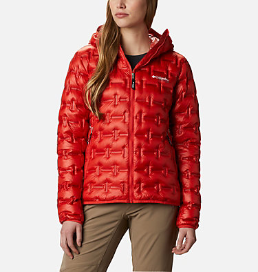 Alpine Crux Daunenjacke für Frauen W Alpine Crux™ Down Jacket | 010 | XS, Bold Orange, front