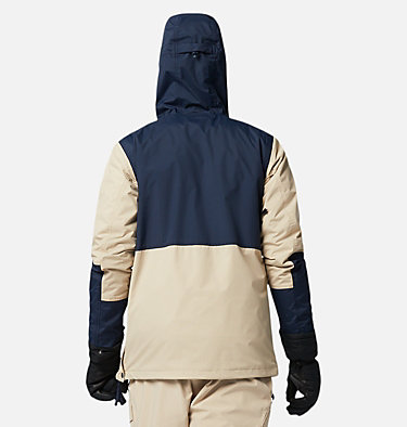 Men's Park Run Anorak Ski Pullover Park Run™Anorak | 011 | XXL, Ancient Fossil, Collegiate Navy, back