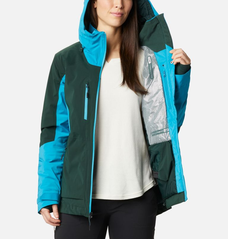 Wild Card™ Insulated Jacket | 370 | XS Women's Wild Card Insulated Ski Jacket, Spruce, Fjord Blue, a3