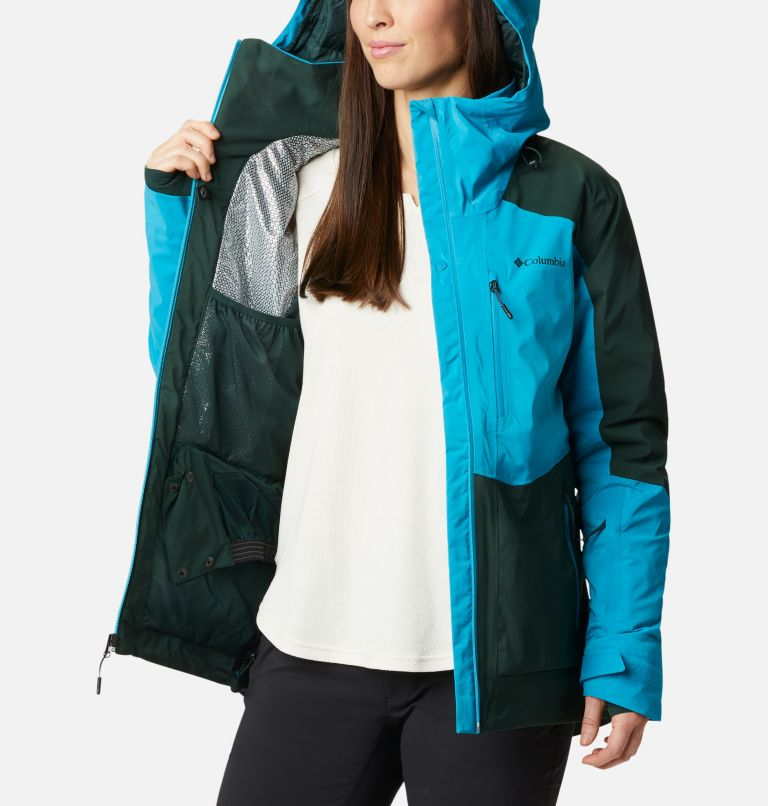 Wild Card™ Insulated Jacket | 370 | XS Women's Wild Card Insulated Ski Jacket, Spruce, Fjord Blue, a4