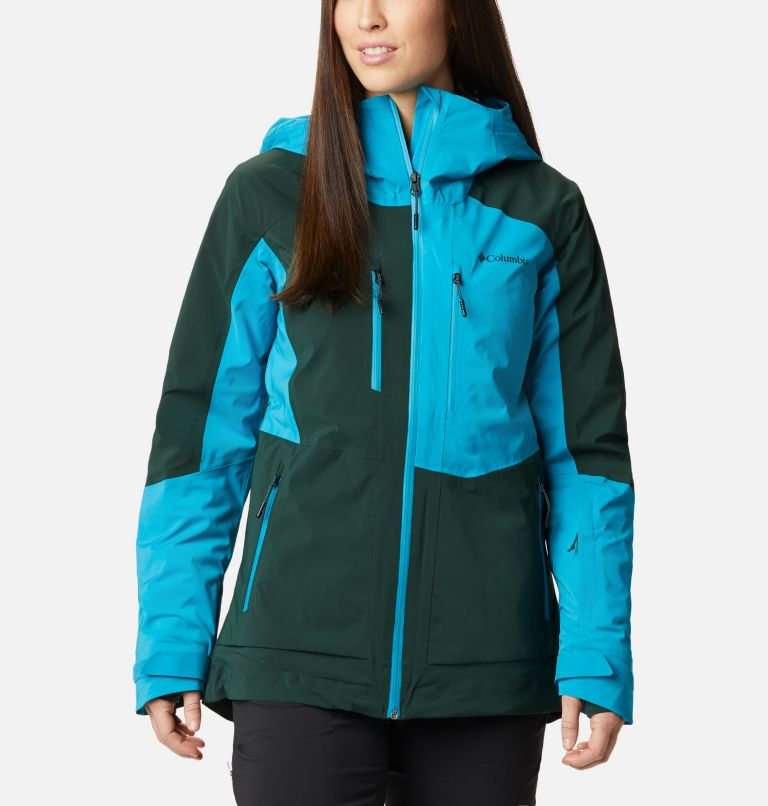 Wild Card™ Insulated Jacket | 370 | XS Women's Wild Card Insulated Ski Jacket, Spruce, Fjord Blue, front