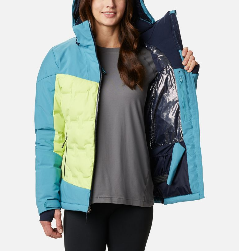 Wild Card™ Down Jkt | 307 | XS Women's Wild Card Down Ski Jacket, Voltage, Canyon Blue, a3