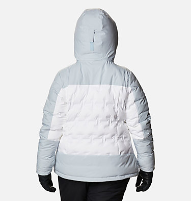 Women's Wild Card™ Down Jacket - Plus Size Wild Card™ Down Jkt | 472 | 3X, White, Cirrus Grey, back