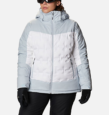 Women's Wild Card™ Down Jacket - Plus Size Wild Card™ Down Jkt | 472 | 3X, White, Cirrus Grey, front