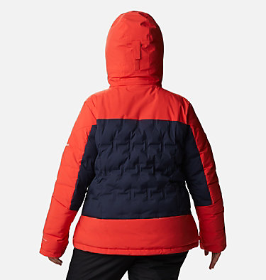 Women's Wild Card™ Down Jacket - Plus Size Wild Card™ Down Jkt | 472 | 3X, Dark Nocturnal, Bold Orange, back