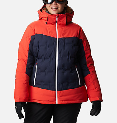 Women's Wild Card™ Down Jacket - Plus Size Wild Card™ Down Jkt | 472 | 3X, Dark Nocturnal, Bold Orange, front