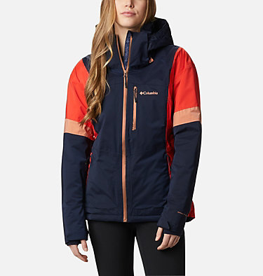 Snow Diva™ isolierte Jacke für Frauen Snow Diva™ Insulated Jacket | 010 | XS, Dark Nocturnal, Bold Orange, Nova Pink, front
