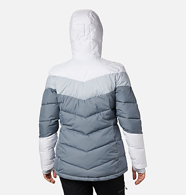 Women's Abbott Peak Insulated Jacket Abbott Peak™ Insulated Jacket | 021 | M, Grey Ash, White, Cirrus Grey, back