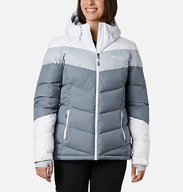 Women's Abbott Peak Insulated Jacket Abbott Peak™ Insulated Jacket | 021 | M, Grey Ash, White, Cirrus Grey, front