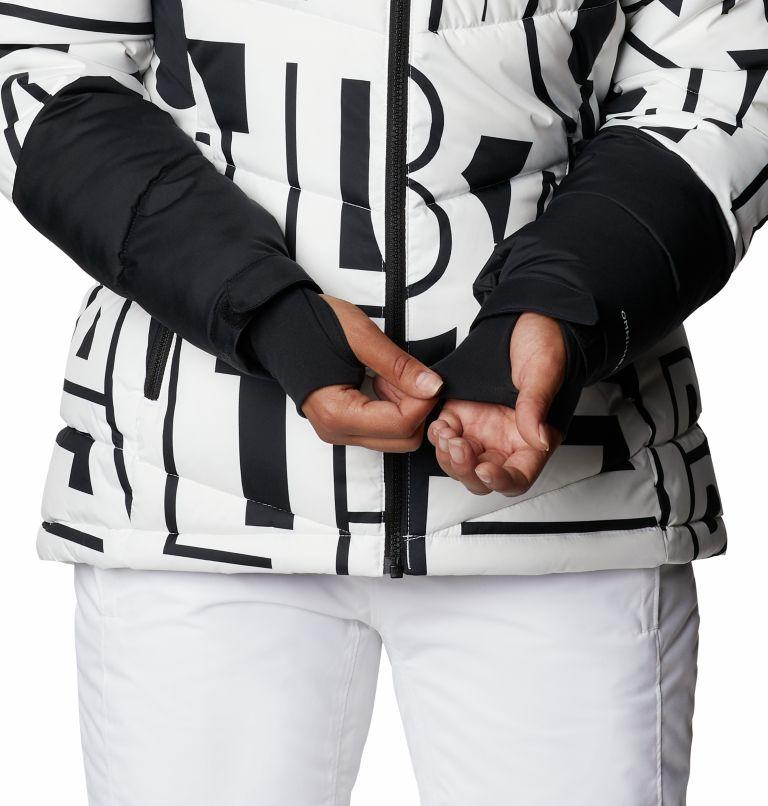Abbott Peak™ Insulated Jacket | 100 | XS Women's Abbott Peak Insulated Ski Jacket, White Typo Print, Black, a6