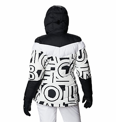 Women's Abbott Peak Insulated Jacket Abbott Peak™ Insulated Jacket | 021 | M, White Typo Print, Black, back