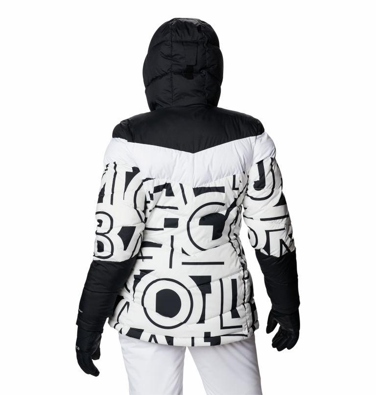 Abbott Peak™ Insulated Jacket | 100 | XS Women's Abbott Peak Insulated Ski Jacket, White Typo Print, Black, back