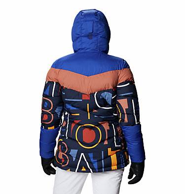 Women's Abbott Peak Insulated Jacket Abbott Peak™ Insulated Jacket | 021 | M, Dk Noctrnl Multi Typo Print, Lapis Blue, back