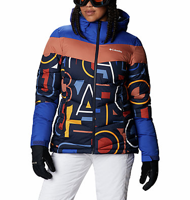 Women's Abbott Peak Insulated Jacket Abbott Peak™ Insulated Jacket | 021 | M, Dk Noctrnl Multi Typo Print, Lapis Blue, front