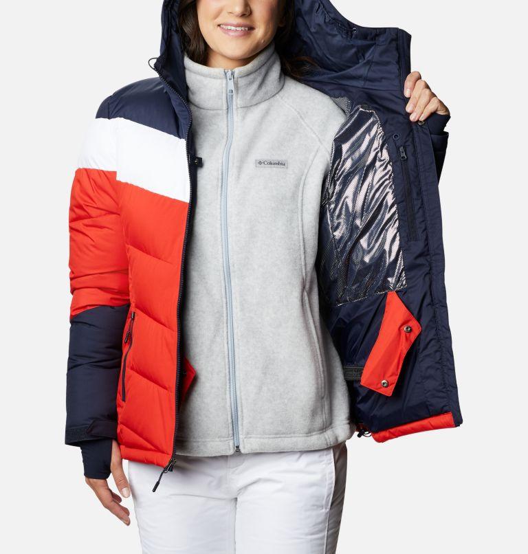 Abbott Peak™ Insulated Jacket   843   XS Women's Abbott Peak Insulated Ski Jacket, Bold Orange, Dark Nocturnal, White, a3