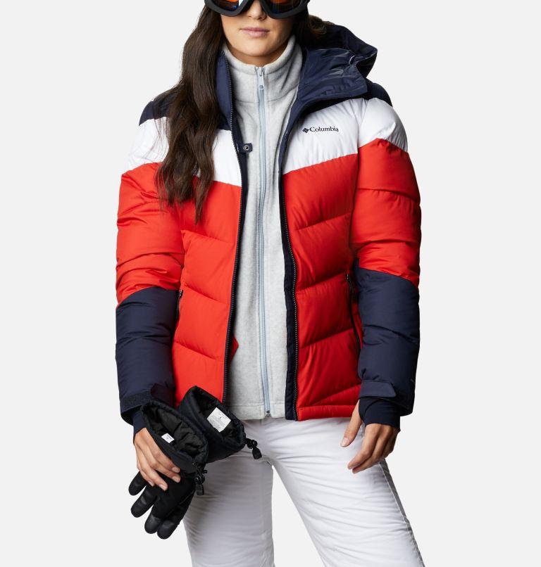 Abbott Peak™ Insulated Jacket | 843 | XL Women's Abbott Peak Insulated Ski Jacket, Bold Orange, Dark Nocturnal, White, a8