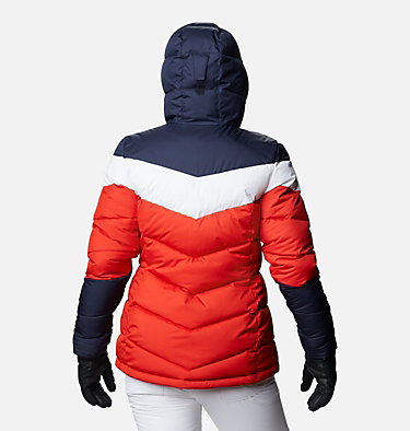 Women's Abbott Peak Insulated Jacket Abbott Peak™ Insulated Jacket | 021 | M, Bold Orange, Dark Nocturnal, White, back