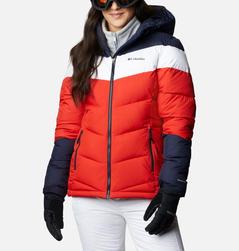 Abbott Peak™ Insulated Jacket   843   XS Women's Abbott Peak Insulated Ski Jacket, Bold Orange, Dark Nocturnal, White, front