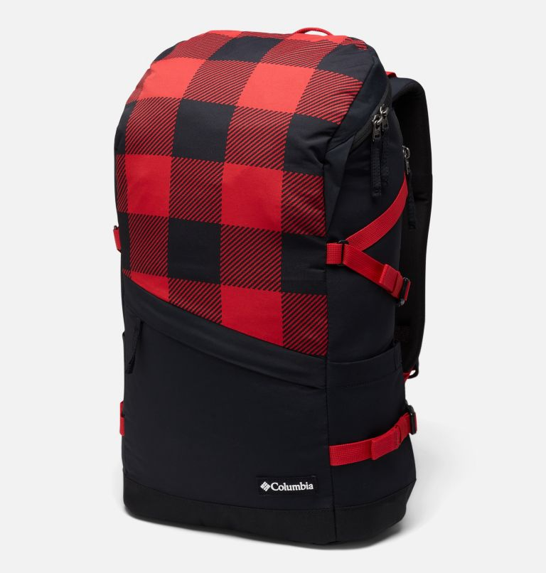 Falmouth™ 24L Backpack | 613 | O/S Unisex Falmouth 24L Backpack, Mountain Red Check Print, Black, front