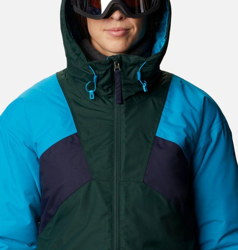Alpine Diva™ Insulated Jacket | 370 | S Women's Alpine Diva™ Insulated Ski Jacket, Spruce, Fjord Blue, Dark Nocturnal, a2