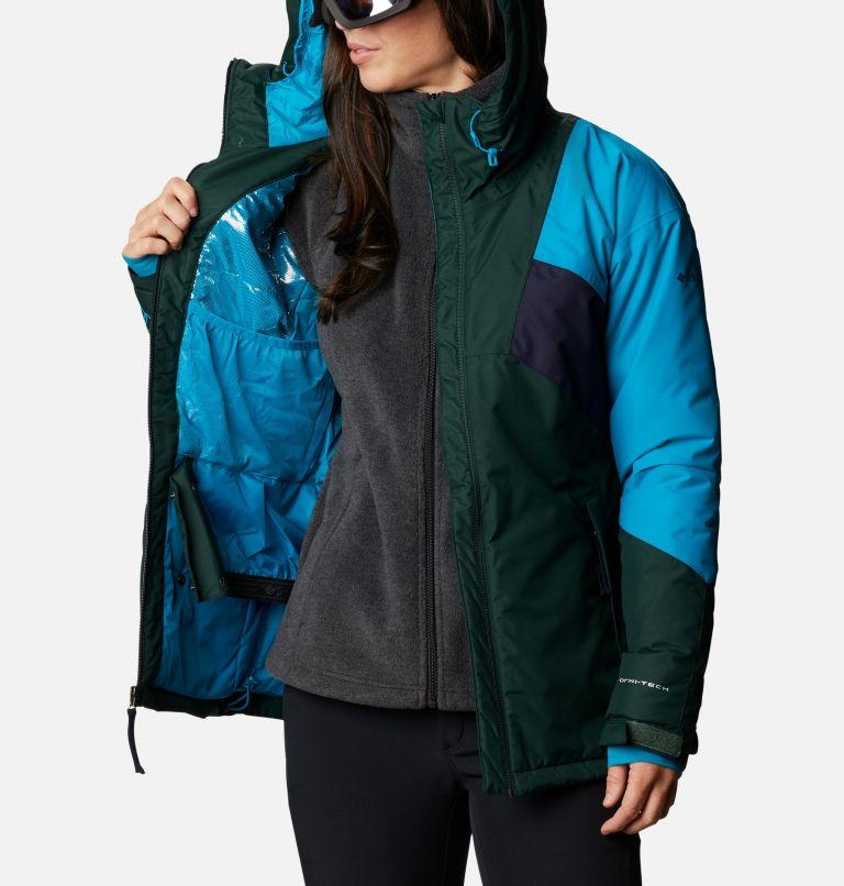 Alpine Diva™ Insulated Jacket | 370 | S Women's Alpine Diva™ Insulated Ski Jacket, Spruce, Fjord Blue, Dark Nocturnal, a3