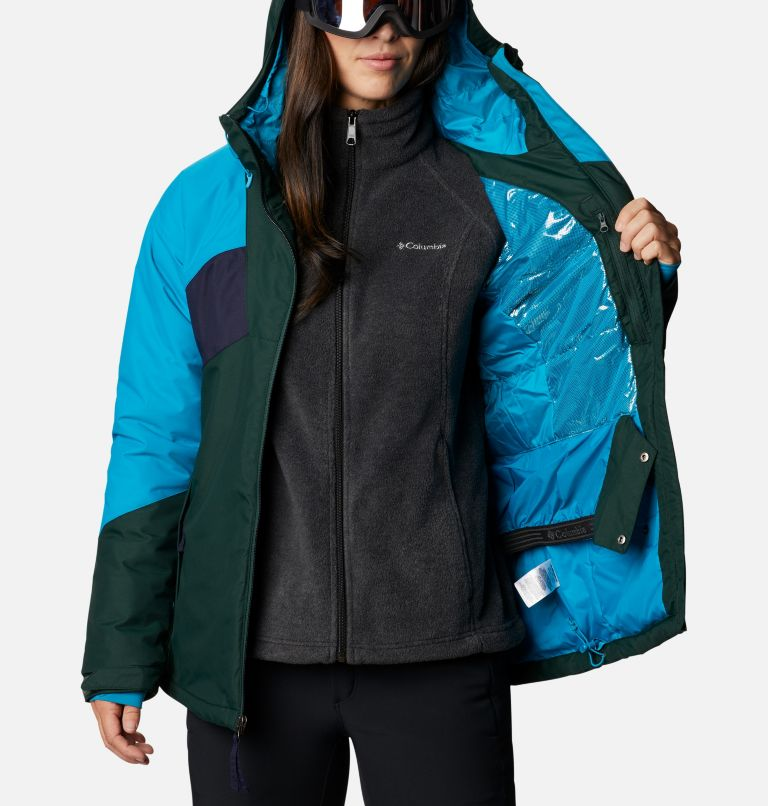 Alpine Diva™ Insulated Jacket | 370 | S Women's Alpine Diva™ Insulated Ski Jacket, Spruce, Fjord Blue, Dark Nocturnal, a4