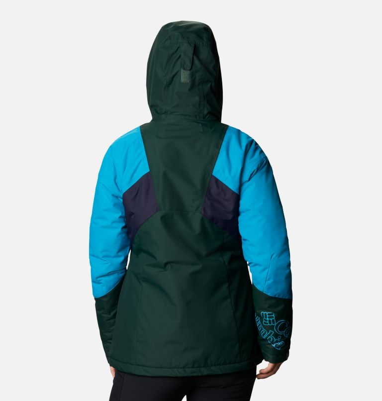 Alpine Diva™ Insulated Jacket | 370 | S Women's Alpine Diva™ Insulated Ski Jacket, Spruce, Fjord Blue, Dark Nocturnal, back